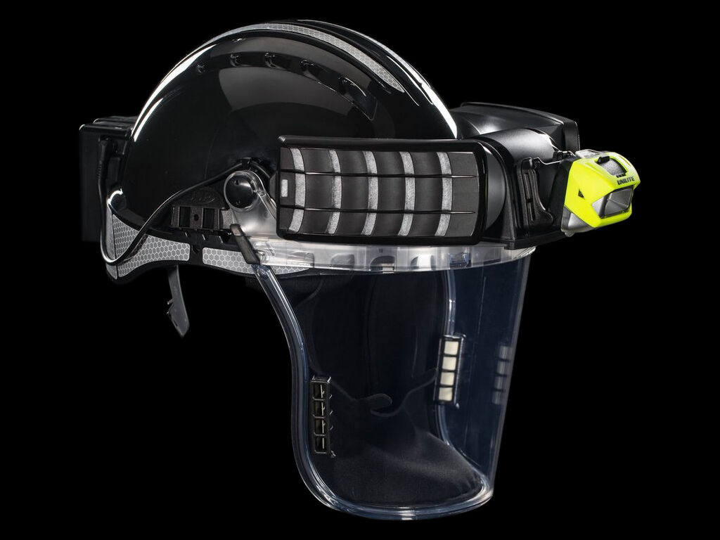 PS-HDL6R head torch and respirator