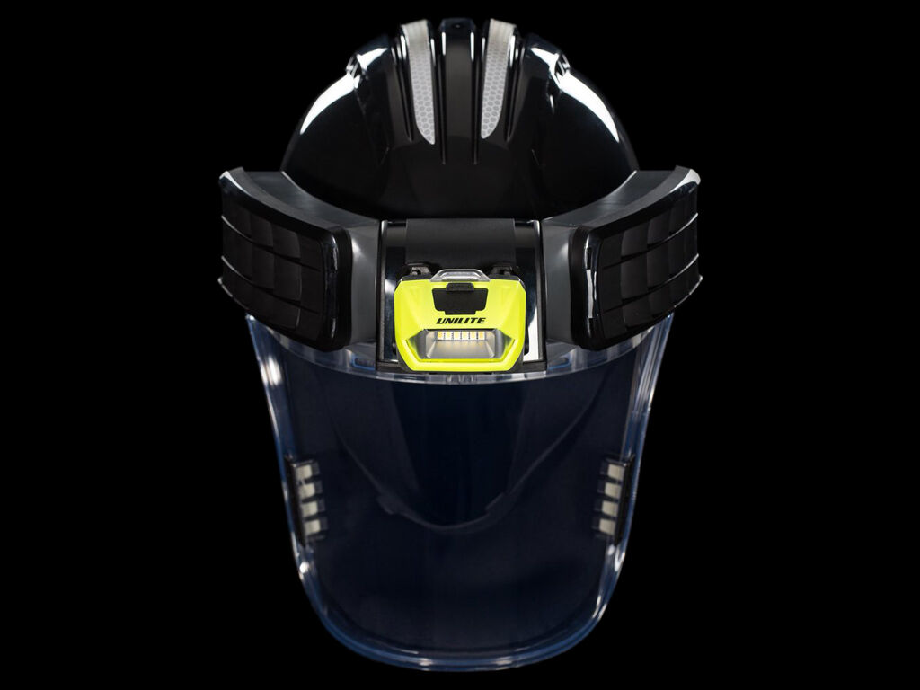 PS-HDL6R head torch on a PowerCap Infinity forced air respirator
