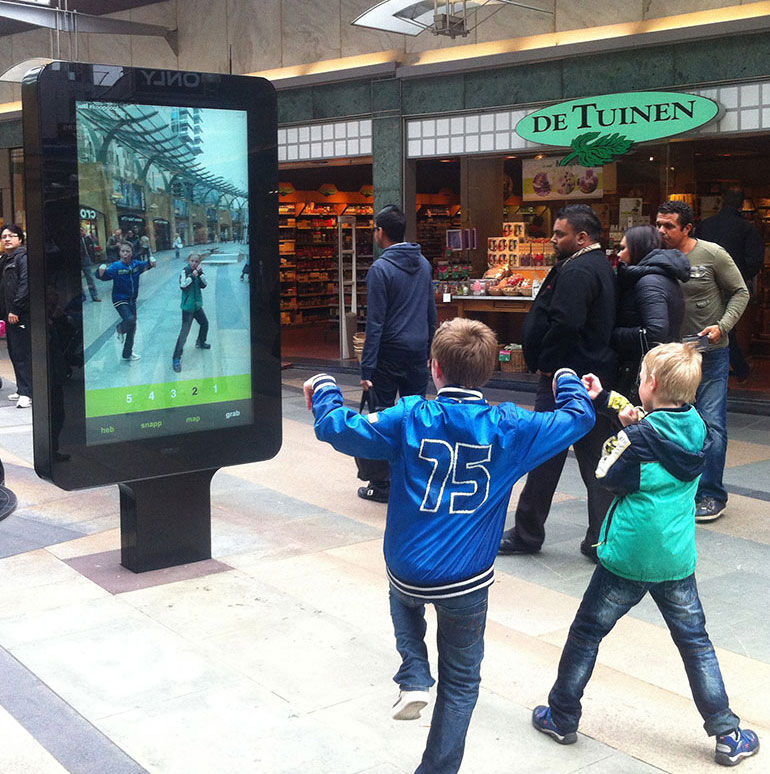 Zytronic glass touch screen used in an interactive outdoor sign