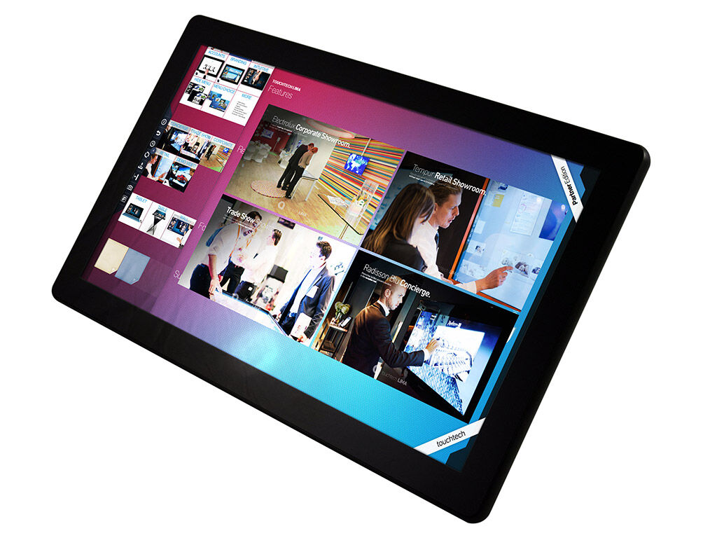 """H2214W 22"""" touch monitor running Touchtech Lima"""