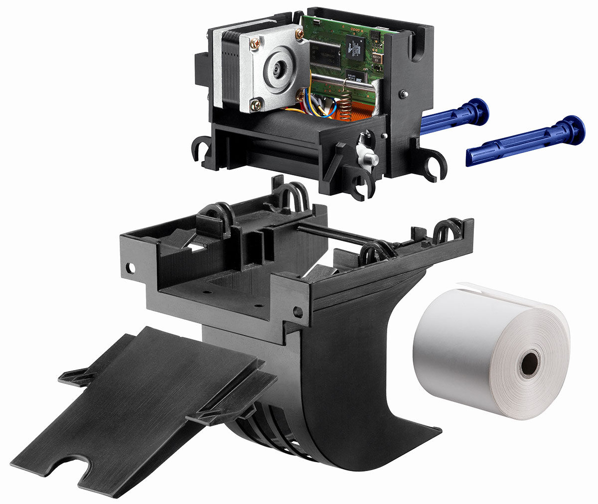 The parts that go into a C56 thermal printer