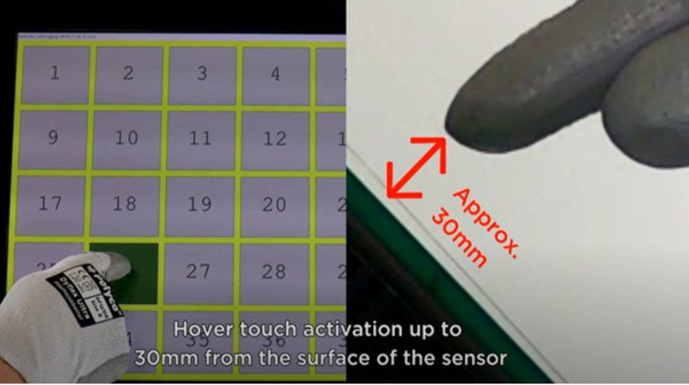 Zytronic hover touch