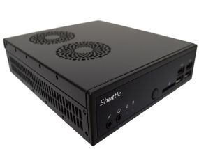 Shuttle Slim PC front 3/4 view