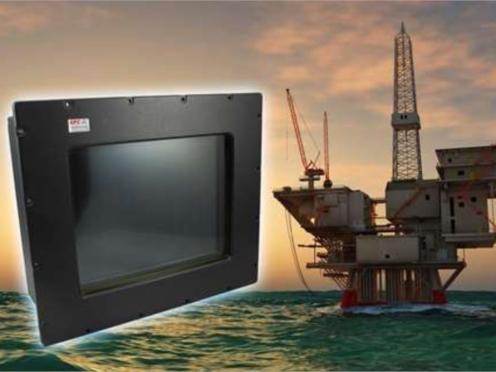 Oil-rig-touch-screen