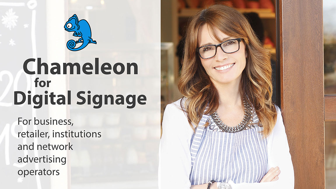 Chameleon for digital signage news